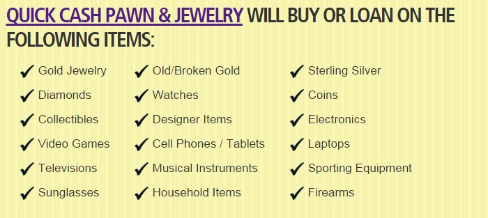Pawn shop serving westchase fl for Ez money pawn jewelry